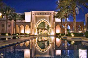 tree city arabic light night reflection