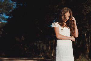trees girl beautiful hair fashion woman dress photoshoot white style