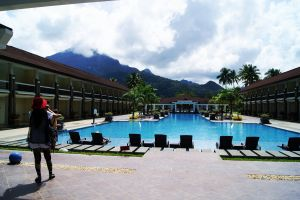 tropical mountains water asia buildings palawan philippines hotel