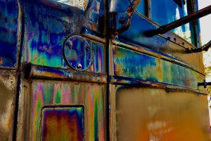 truck rust reflection color