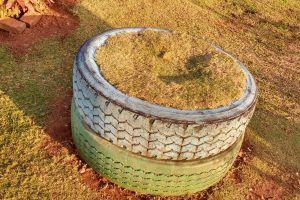 tyre seat garden