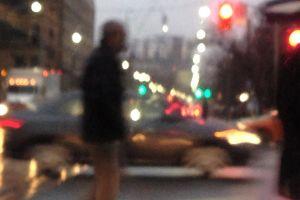 urban isolation night time lonley crosswalk