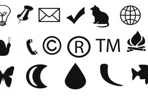 vector images snail bulb butteryfly copyright envelope trademark phone icon symbols moon