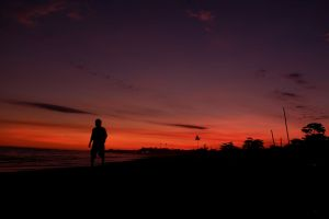 walking bali sunset sunset beach beach