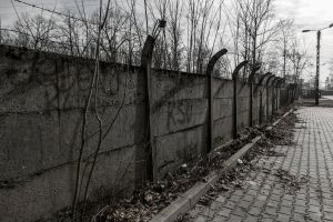 wall concrete wall barbed wire apocalypse grey concrete barb wires