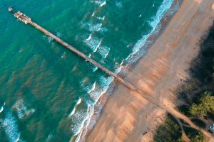 waves sea ocean beach dock aerial photography shoreline aerial shot drone shot drone photography