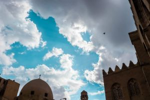 winter wonderful cloudy blue sky egypt