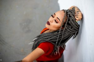 woman person model pretty beautiful hairstyle dreadlocks wear beauty portrait