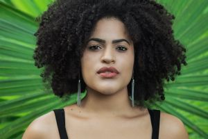 woman pose person style hair glamour afro female pretty model