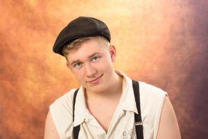 young model scotland boy background freestyle portrait