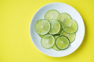 yummy juicy round out antioxidant sliced natural healthy tasty lime saucer