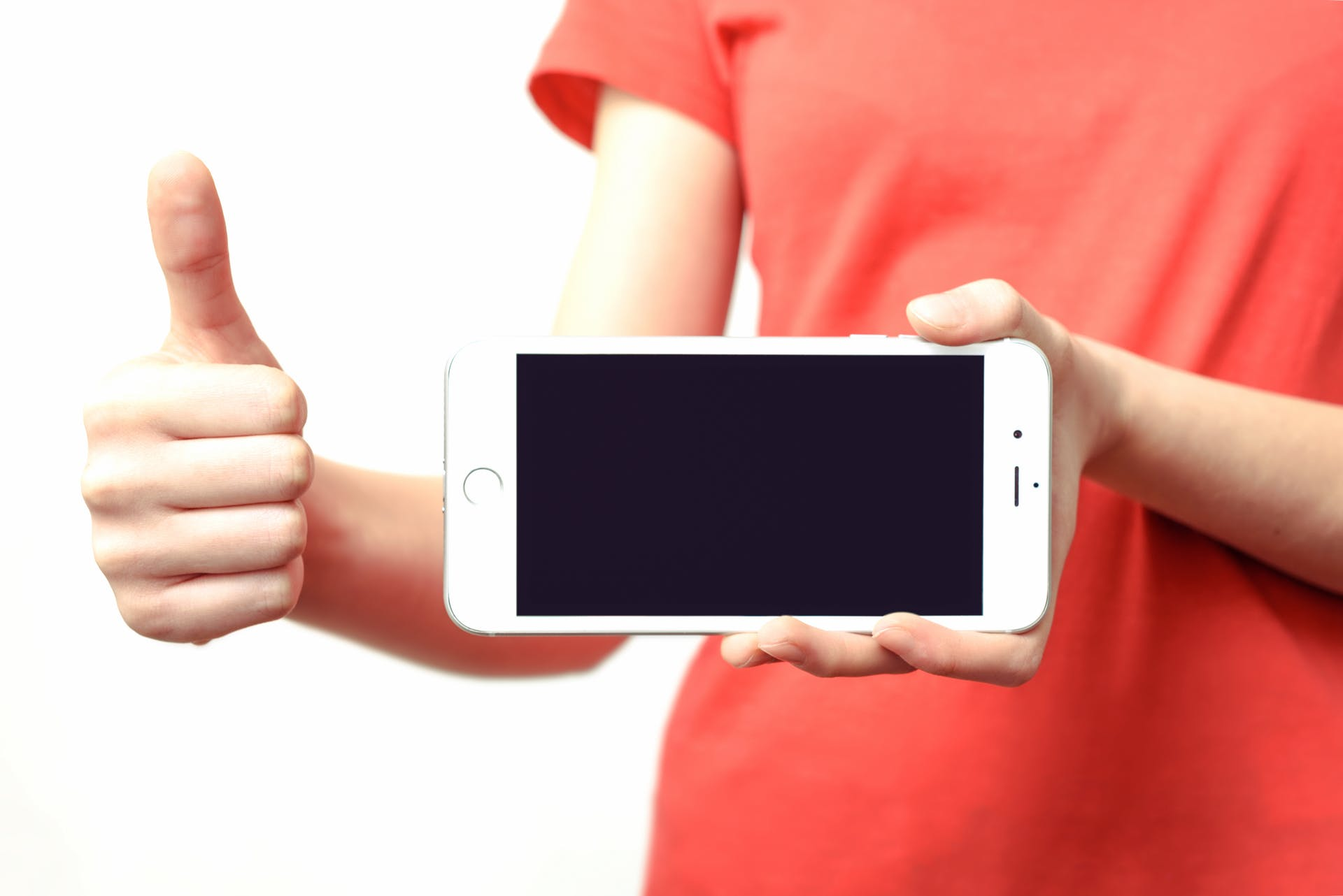 gesture red phone presentation device hands human iphone wireless electronics