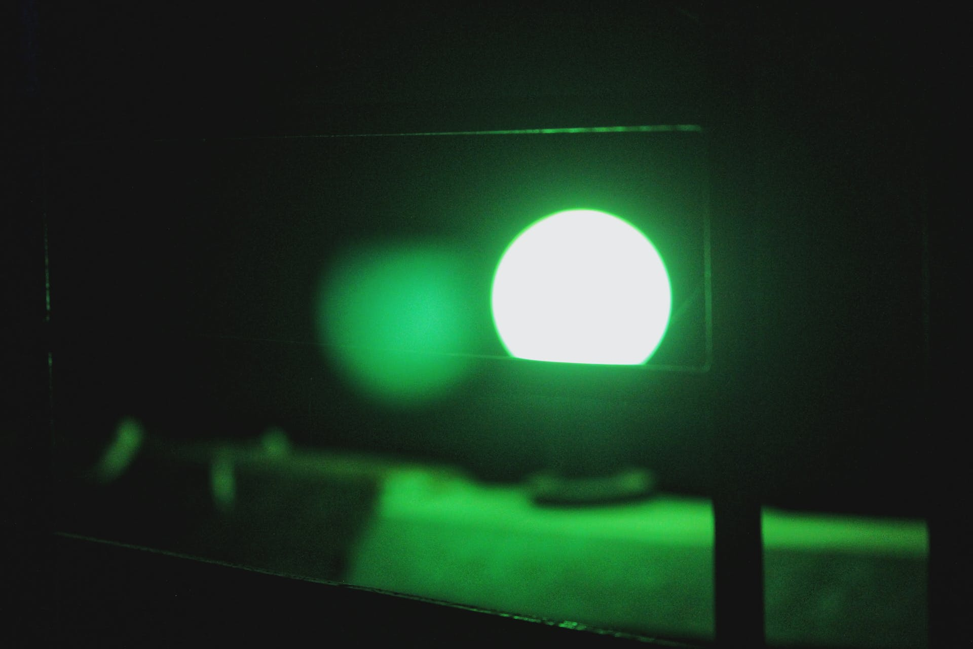 green light low light round bulb light night beauty