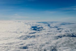 aerial view clouds aerial shot scenic from above flight atmosphere daylight sky high