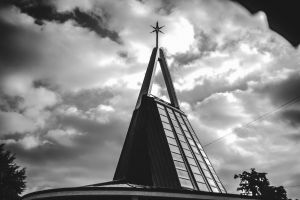 architecture church black black and white black and-white