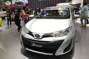 automobile silver car show bangkok car automotive yaris ativ exhibition center toyota international motor show