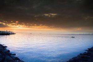 bay landscape manila nature dock philippines sunset