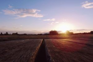 bench clouds wooden bench farm drone footage drone cam farmland trees cloud drone