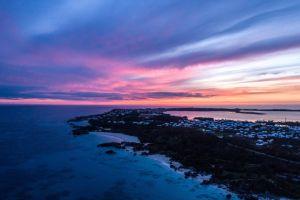 bermuda purple land explore sunrise outdoor sunlight nature golden hour beach