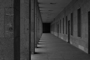 black and white tempelhof architecture abandoned building