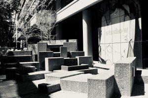 black and white urban architecture city