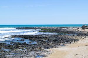 blue background cloud summer sand wallpaper italy rock rocks wave