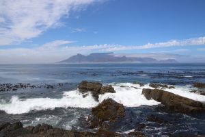 blue sky mountain ocean clouds landmark south africa table mountain nature cape town wonders