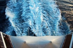 blue sky sun cruise sunset cruise ship minimalism holiday water ocean sea