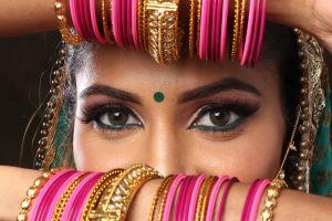 bracelets person glamour wear eyes woman jewelry girl