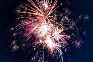 bright celebration firework festival flame sparks fireworks sparkling explosion party