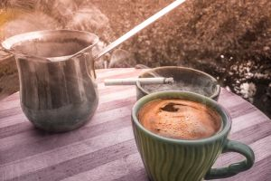 brown cheerful mood winter background cigarette good morning mood coffee dramatic antique