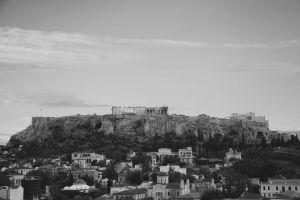 buildings tourism landscape greece metropolis black-and-white medieval ancient landmark fortress