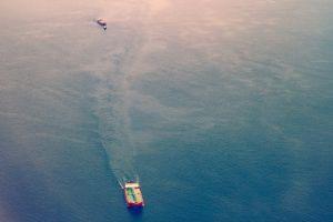 bulk carrier mother vessel blue ocean boat tug boat ship vessel