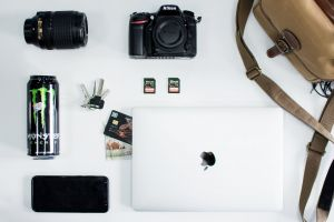 camera drink credit card apple technology laptop nikon