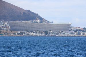 cape town table mountain landmark stadium south africa mountain ocean