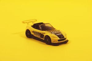 car miniature toy yellow