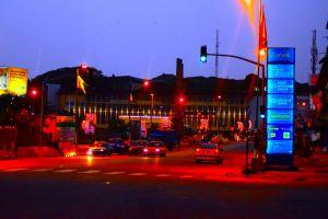 cars highway motion city urban street night road downtown celebration