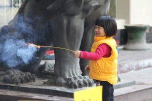 chinese china fun girl new year fireworks