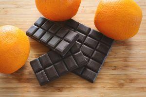 chocolate fresh food orange