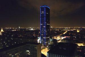 city lights cityscape night lights building night