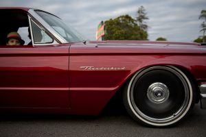 classic road boy classic car chrome vehicle people wheel asphalt daytime