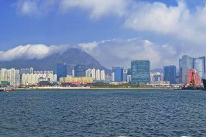cloud hong kong coast sky ship cityscape city boat sea harbour