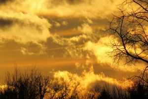clouds landscape sunset