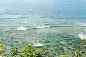 coast rock vacation nobody sea resort beautiful sunlight stone blue