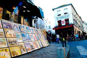 cobblestone paris street art