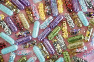 colorful pills colourful ecstasy girly shiny fun confetti drugs glitters