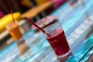 colorful smoothie summer drinks