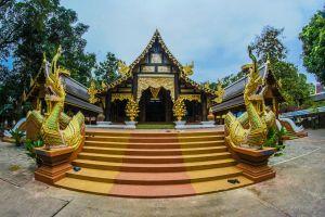 colorful stupa chiangmai destinations town pagoda sky gold landmark religious