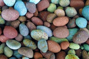 colourful rocks pebbles stones colorful