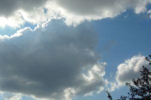 cumulous clouds dark color sky